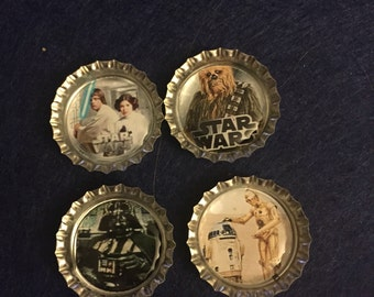 Star Wars Bottle Cap Magnets - Set of 4