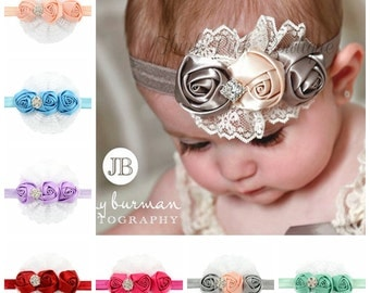 12 pcs headhand bow, Newborn Headband, baby headbands, newborn headband, infant headband, photo prop, flower headband, baby hair band