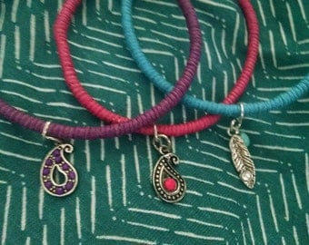 charm wrapped bangles