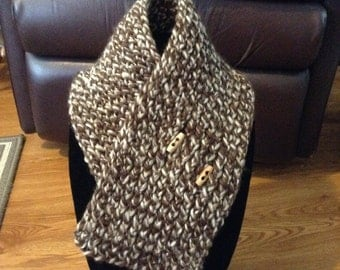 Knitted Wool Cowl Scarf