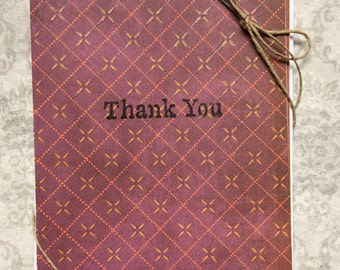 Set of 4 colorful thank you cards