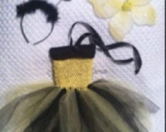 Bumble Bee tutu dress with accessories