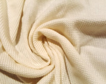 """Organic Cotton Thermal Knit By The Yard 52"""" Wide."""