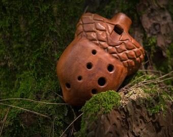 Ocarina ''Acorn'' F major  ceramic