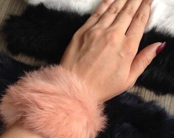 soft faux fur snappy bracelet/hairband/choker/scrunchy