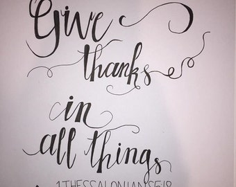 """1 Thessalonians 5:18 Cardstock (8.5"""" X 11"""")"""