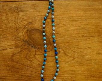 Ladies blue sodalite beaded necklace