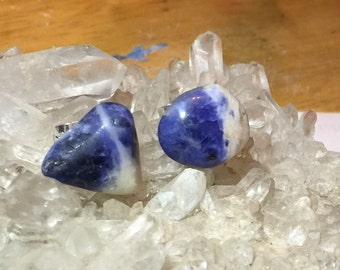 Sodalite Crystal Stud Earrings