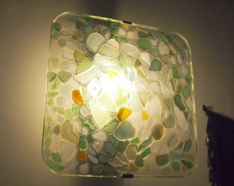 Lamp Applique wall square Seaglass use 001