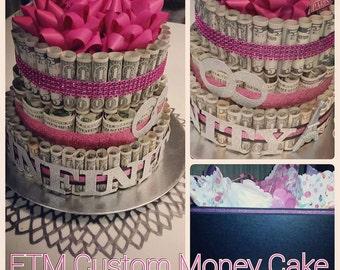 Custom Brand Money Cake