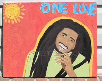 Bob Marley One Love Print