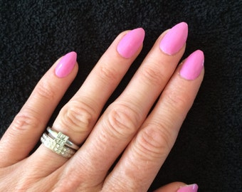 Hand painted false nails - perfect for holidays