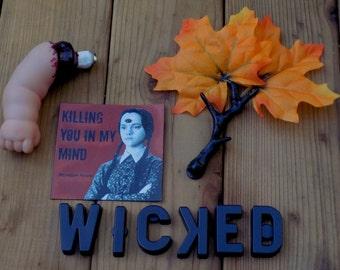 Wicked Fridge Magnet Set Wednesday Addams Autumn Halloween