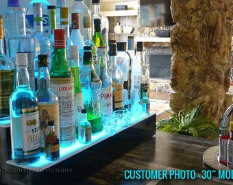 "30"" LED Lighted Liquor Bottle Display"