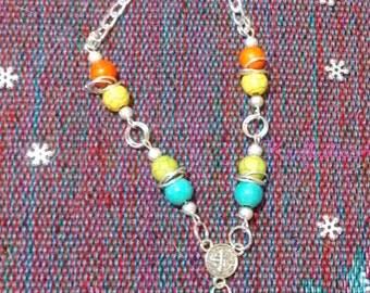 Anklet - turquenita style bead