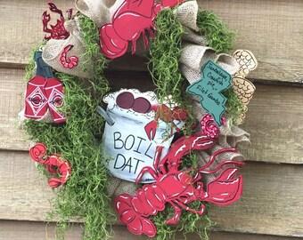 Cajun Crawfish Boil Wreath