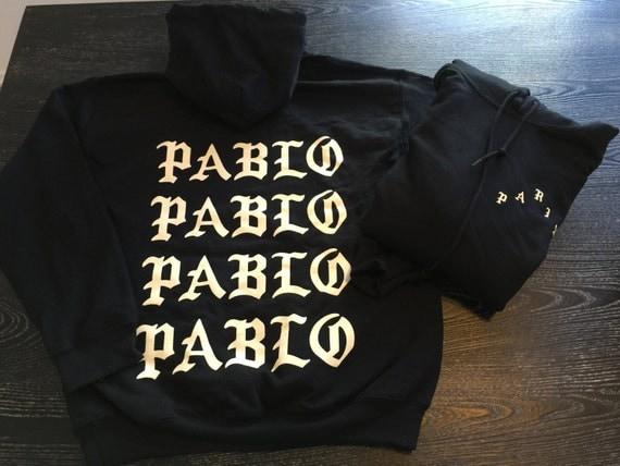 Pablo pablo pablo pablo hoodie black tlop paris pop by for Life of pablo merch