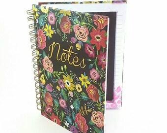 Black Floral Magnetic Makeup Palette - Notes