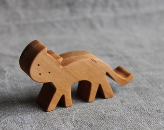 Cat figure natural organic toy gifts playing game wooden toy decoration#
