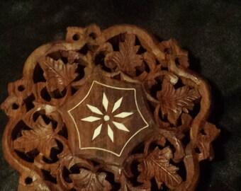 Wooden pot holder