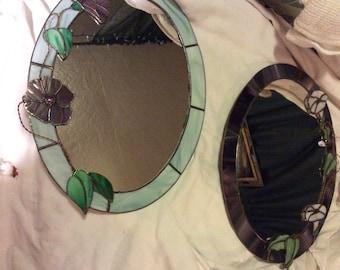 Set of 2  mosaic mirrors 15 3/4 x 11 3/4