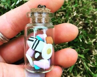 Glass jar pendant