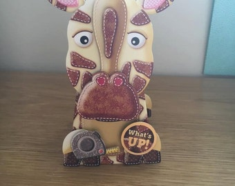 3D Giraffe Box Pop Card