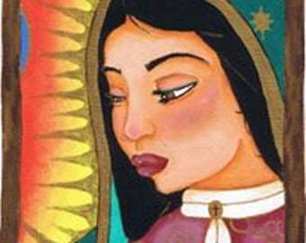Framed Our Lady Of Guadalupe Painting