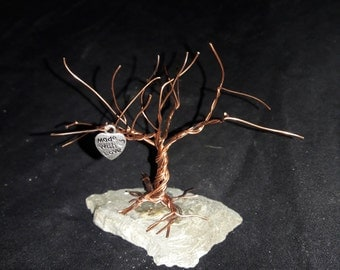 copper tree made with love