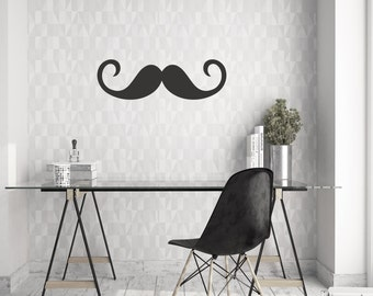 Mustache (2) Wall Decal | Vinyl Wall Decal | Wall Decal |