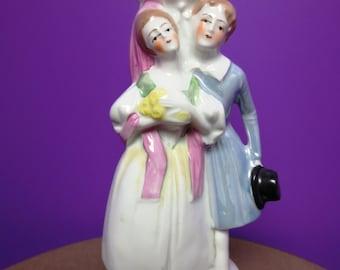 German Porcelain Figure Lamp