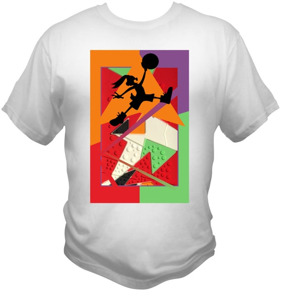 Michael Jordan hare 7s white t-shirt chicago bulls dream team space jam