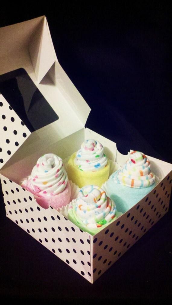 Baby Washcloth Cupcakes - Baby Shower Gift
