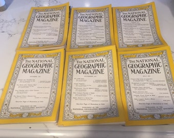 Vintage National Geographic Magazines from 1951