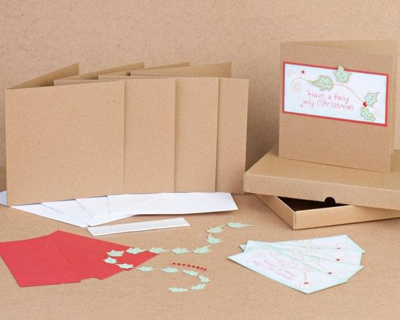 Handmade Holly Jolly Christmas Card Kit Make your own cards