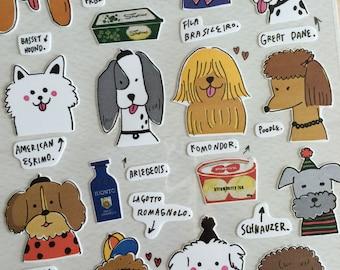 Korea deco stickers - Sonia - dog, Chi Hua Hua, Chow Chow, puppy