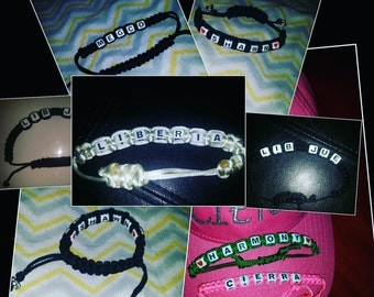 Adjustable Name Bracelets