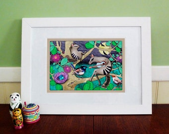 A3 Art Print - Night of the Numbats
