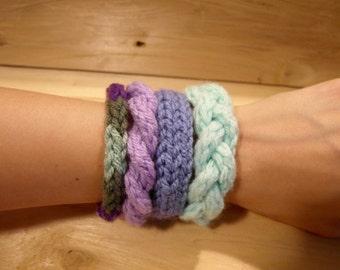 4 knitted bracelets