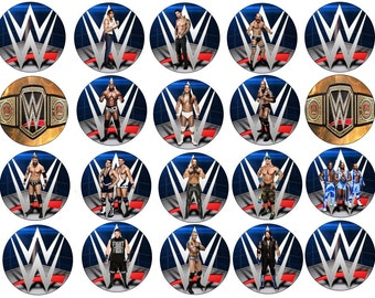WWE Wrestling  Edible Images Cupcake, Cookie Toppers