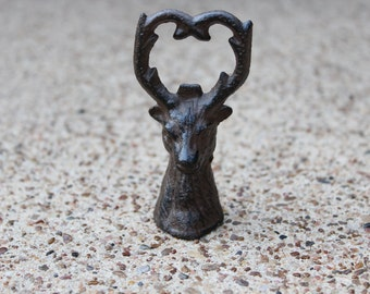 SALE-Deer Bottle Opener Cast Iron/Reindeer