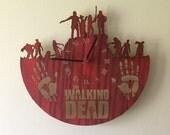 Walking Dead laser cut clock