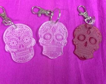 Candy skull keyring