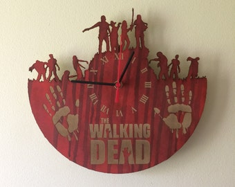 Walking Dead laser cut clock