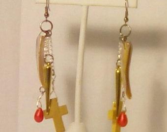 Vampire earrings