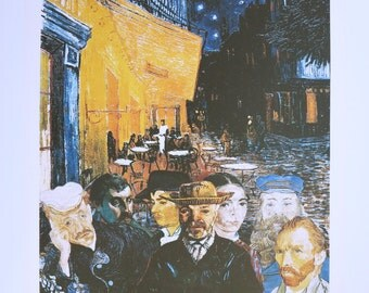 Sir Peter Blake print - Hommage Vincent van Gogh - lithograph exhibition poster - British Pop Art - offset litho - 1990