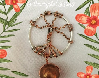 Copper Tree of Life necklace pendant
