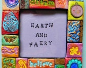 Picture frame, wall art, polymer clay mosaic, wall decor