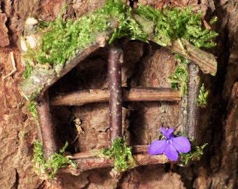 Fairy Window - Fairy Garden, Faery Garden, Miniature Furniture, Fairy House, Fairy Accessories, Tooth fairy, Mini Window, Dollhouse Decor