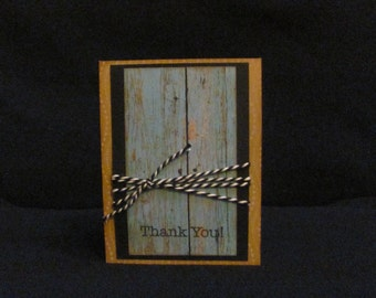 Distressed Wood Thank You Card